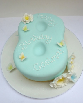 Girl's Number 8 Birthday Cake